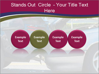 Auto accident involving two cars on a city street PowerPoint Templates - Slide 76