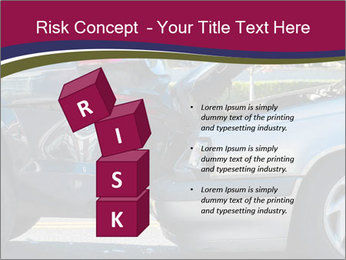 Auto accident involving two cars on a city street PowerPoint Templates - Slide 81