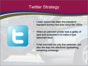 Auto accident involving two cars on a city street PowerPoint Template - Slide 9