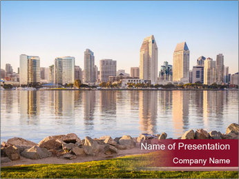 Downtown City PowerPoint Template