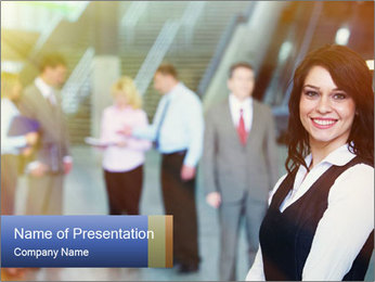 Corporate Team PowerPoint Template - Slide 1