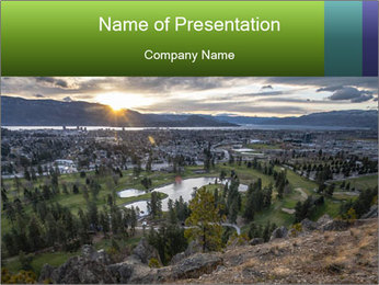 Canadian Landscape PowerPoint Template
