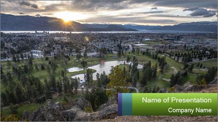 Canadian Landscape PowerPoint Template
