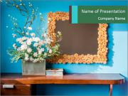 Flowers And Frame PowerPoint Templates