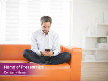 Attractive man PowerPoint Template