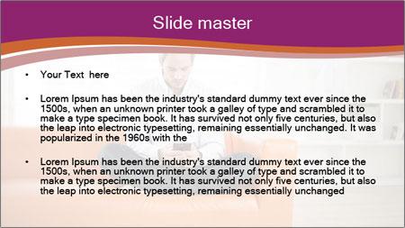 Attractive man PowerPoint Template - Slide 2