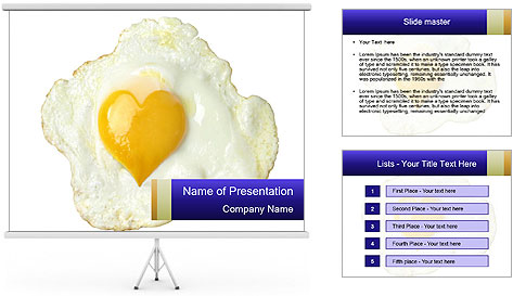 Fried egg PowerPoint Template