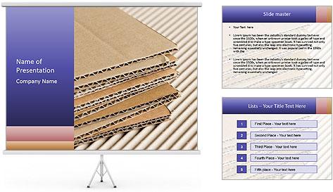 Cardboard pile PowerPoint Template