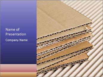 Cardboard pile PowerPoint Template - Slide 1