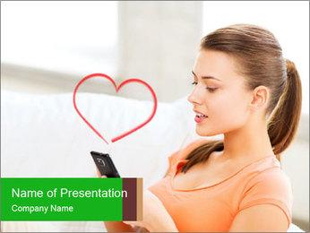 Love and internet PowerPoint Template