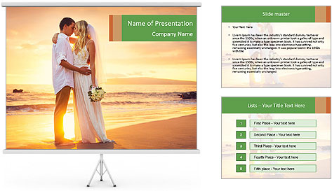 Bride and Groom PowerPoint Template