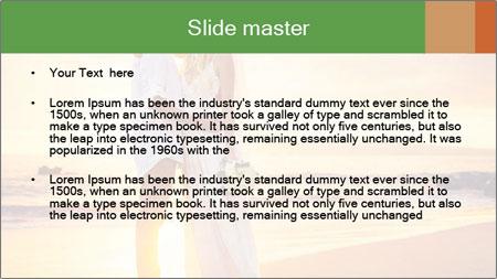 Bride and Groom PowerPoint Template - Slide 2