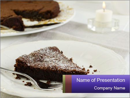 Chocolate cake PowerPoint Templates