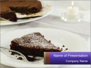 Chocolate cake PowerPoint Template