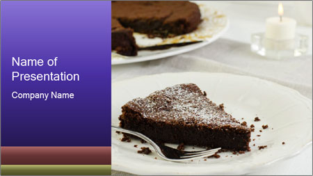 Chocolate cake PowerPoint Template