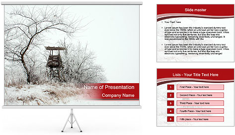 Snowy landscape PowerPoint Template