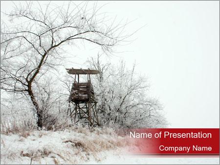 Snowy landscape PowerPoint Templates