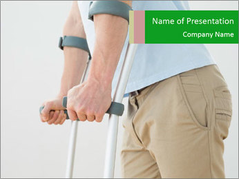 Close-up mid section of a man PowerPoint Template - Slide 1