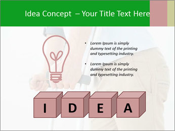 Close-up mid section of a man PowerPoint Template - Slide 80