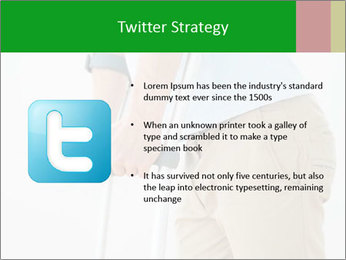 Close-up mid section of a man PowerPoint Template - Slide 9