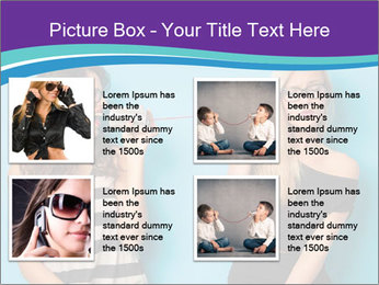 Blonde and brunette women talking PowerPoint Templates - Slide 14