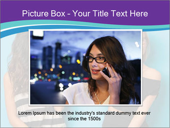 Blonde and brunette women talking PowerPoint Templates - Slide 16