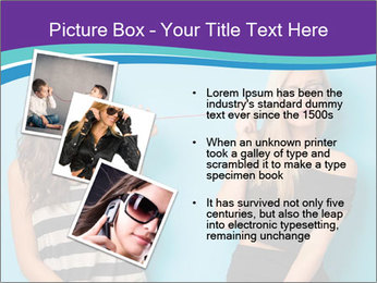 Blonde and brunette women talking PowerPoint Templates - Slide 17