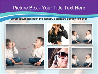 Blonde and brunette women talking PowerPoint Templates - Slide 19
