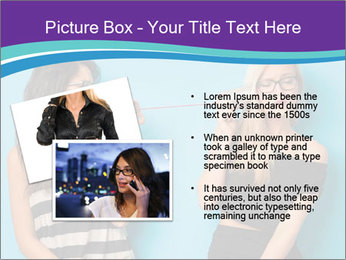 Blonde and brunette women talking PowerPoint Templates - Slide 20
