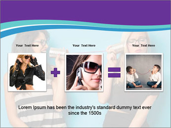 Blonde and brunette women talking PowerPoint Templates - Slide 22