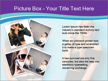 Blonde and brunette women talking PowerPoint Templates - Slide 23