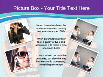 Blonde and brunette women talking PowerPoint Templates - Slide 24