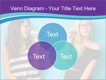 Blonde and brunette women talking PowerPoint Templates - Slide 33