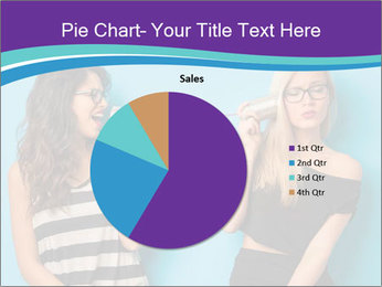 Blonde and brunette women talking PowerPoint Templates - Slide 36