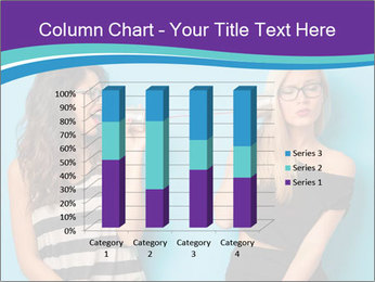 Blonde and brunette women talking PowerPoint Templates - Slide 50