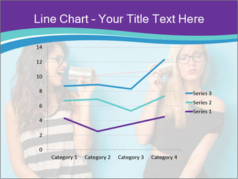 Blonde and brunette women talking PowerPoint Templates - Slide 54