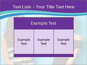 Blonde and brunette women talking PowerPoint Templates - Slide 59