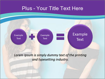 Blonde and brunette women talking PowerPoint Templates - Slide 75