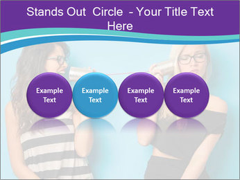 Blonde and brunette women talking PowerPoint Templates - Slide 76
