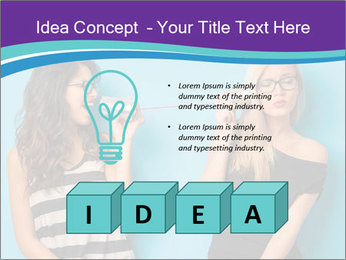 Blonde and brunette women talking PowerPoint Templates - Slide 80