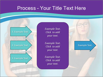 Blonde and brunette women talking PowerPoint Templates - Slide 85