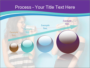 Blonde and brunette women talking PowerPoint Templates - Slide 87