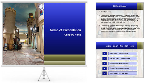 Each salesroom PowerPoint Template