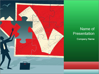 Abstract Businessman PowerPoint Template - Slide 1