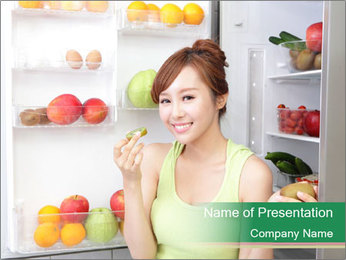 Healthy Eating Concept PowerPoint Templates - Slide 1