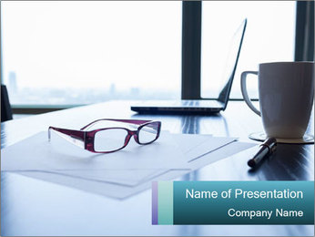 Office desk PowerPoint Template - Slide 1