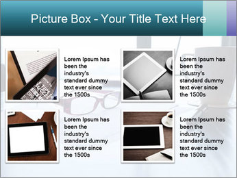 Office desk PowerPoint Template - Slide 14