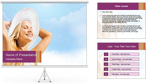 Fashion and lifestyle concept PowerPoint Template
