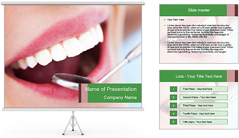 Beautiful teeth PowerPoint Template