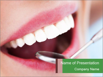 Beautiful teeth PowerPoint Template - Slide 1